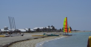 Kleiner Teil des Strandes der Halbinsel Hicacos