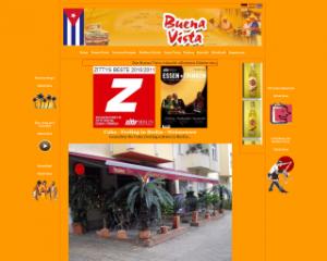 Internetseite der kubanischen Bar