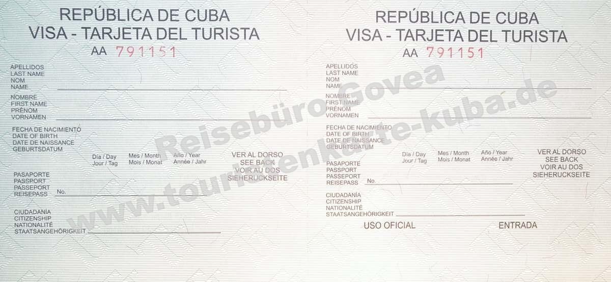 Kubanische Touristenkarte